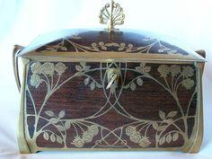 Erhard & Sohn Large Antique Box Art Nouveau Era c. 1910