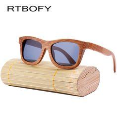 ace5a05b138 RTBOFY 2017 New fashion 100% handmade bamboo wood wood sunglasses male and  female cute design