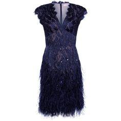 "Matthew Williamson ""Midnight"" Navy Dress ($4,735) ❤ liked on Polyvore"