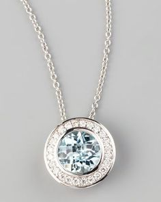 Frederic Sage Mini Aquamarine Diamond Pendant Necklace by Frederic Sage at Neiman Marcus.