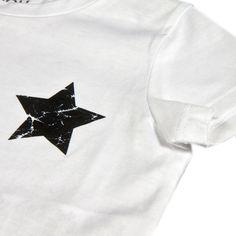 Da 2 a 12 anni T-shirt colore bianco in cotone rifinita con graziosa stampa a forma di stella sul torace P/E 2016