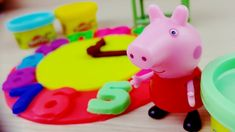 Learn Colors with Peppa Pig Massinha PLAY-DOH Clock Nursery Rhymes Song For Kids - YouTube