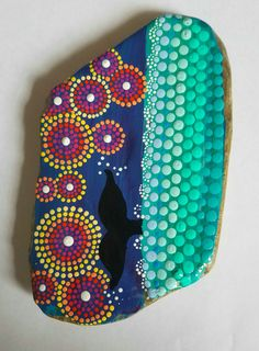 Hand Painted Rock  Painted Stone  Whale Tail von P4MirandaPitrone