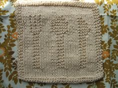 Knitted Dishcloth Pattern - Knife, Fork and Spoon