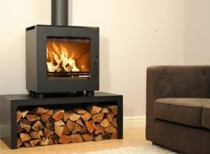 We have a large range of wood burning stoves with our own team of installers covering Surrey and surrounding areas. Traditional, contemporary and modern stoves for every home. Modern Stoves, Firewood Storage, Narrowboat, Home And Deco, Heating And Cooling, Wood Burning, Foyer, Home Appliances, Freestanding Stoves