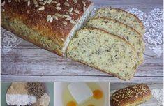 MANDLOVÝ CHLÉB S CHIA - nízkosacharidový Healthy Baking, Lchf, Banana Bread, Paleo, Low Carb, Vegetarian, Yummy Food, Homemade, Meals