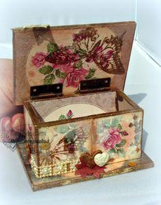 Stampbord, pan pastels and stamping to make a hinged box. http://lulucardmaking.blogspot.co.uk/