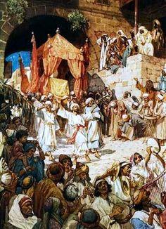David Bringing the Ark into Jerusalem, by William Brassey Hole (1846-1917)