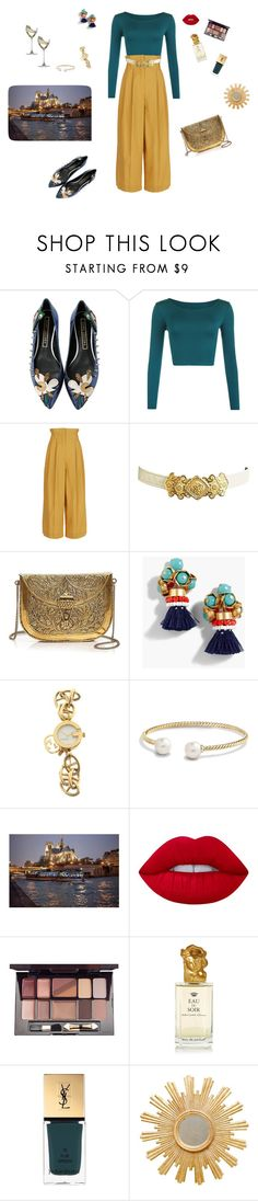 """""""Romantic night 🌙"""" by mariagraziatrotta ❤ liked on Polyvore featuring Marc Jacobs, WearAll, Sonia Rykiel, From St Xavier, J.Crew, Gucci, David Yurman, Lime Crime, Iman and Sisley"""