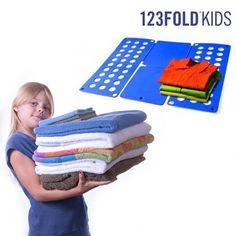 Descubra a melhor ajuda para dobrar a roupa dos seus filhos: o dobrador de roupa infantil 123 Fold!