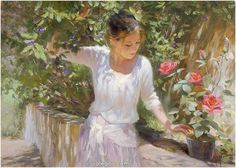 "Vladimir Volegov Done! ""Golden day"", 100x73 cm, oil on canvas, October 2014  #golden #rose #sun"