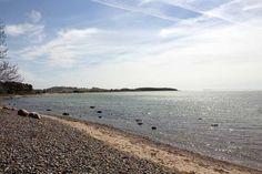 Rügenaquarell von der Steilküste von Klein Zicker   Blick vom Strand Klein Zickers nach Thiessow (c) Frank Koebsch