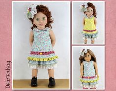Reversible Mori Girl Outfit  Doll clothes to fit Australian Girl Doll, American Girl doll and similar 18 and 20 inch dolls H10 by DebsterKay on Etsy