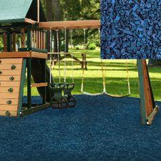 Blue Playground Rubber Mulch