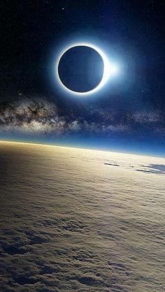 Eclipsed sun over Earth. NASA with their beautiful lies. #space