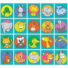 Stammetjes serie 84 - getekende lieve wilde dieren