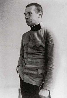 Georg Trakl in uniform. Georg Trakl, One Decade, Book Writer, German Language, Austria, Men Sweater, Turtle Neck, History, Writers