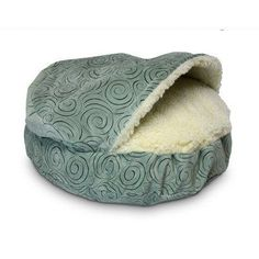 Cozy-Cave-Luxury-Hooded-Dog-Bed-Size-Large-35-L-x-35-W-0