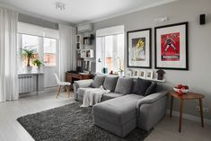 Compact Bachelor Haven in Moscow Defined by the Mix of Modern with Retro