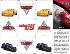 Maze Memory Game Spot The Difference Add To Your Disney Cars Birthday Party Or As A Kids Summer Activity
