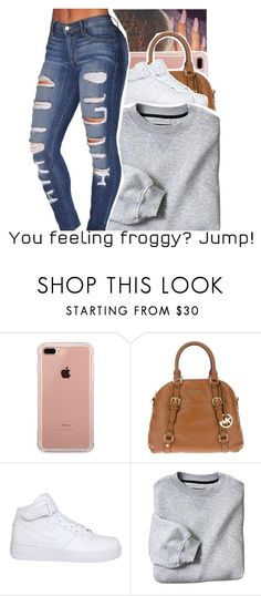 """♛❦"" by trxp-trxll ❤ liked on Polyvore featuring Belkin, MICHAEL Michael Kors and NIKE"
