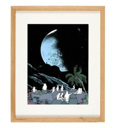 'Blue Moon' - limited Edition of 50 - A3 giclee print (unframed) - anniedavidson.bigcartel.com
