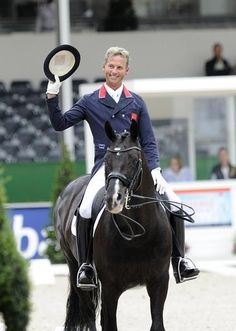 Carl Hester, riding since he was 9, riding in a saddle since he was 16-love him!