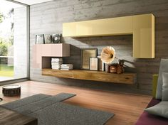 Mueble modular de pared modular 36e8 WILDWOOD by Lago diseño Daniele Lago