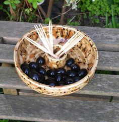 Party time!!......Olive serving dish hand thrown bowl hors d'oeuvres