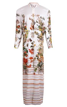 Floral Stripe Print Floor Length Shirt Dress by A La Russe for Preorder on Moda Operandi