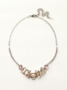 Emerald and Pear-Cut Crystal Collar Necklace in Satin Blush - Sorrelli. #idosorrelli #sorrellibridalcontest