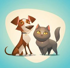 cat-and-dog-characters-cartoon-styled-vector-illustration-vector-id500579001 (612×601)