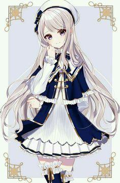 Anime Neko, Manga Kawaii, Anime Oc, Chica Anime Manga, Kawaii Anime Girl, Anime Hair, Female Anime, Anime Eyes, Pretty Anime Girl