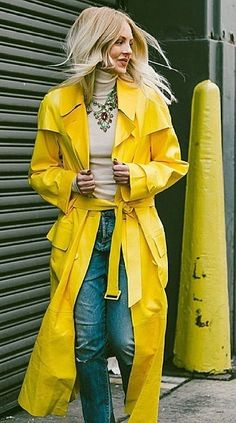 Shea Marie of Peace Love Shea brightening an NYC winter day in an Ralph Lauren Collection coat and necklace.