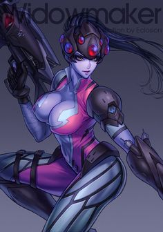 Overwatch,Blizzard,Blizzard Entertainment,фэндомы,фендомы,Overwatch art,Widowmaker,eclosion