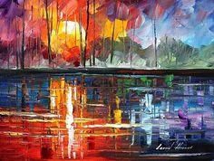 Lake - By Leonid Afremov