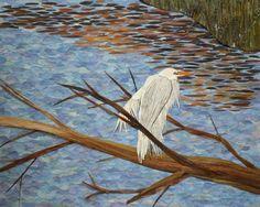great egret on Brown's Pond