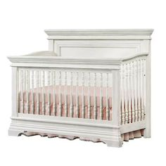 Classic Traditional White 4-in-1 Convertible Crib - Olivia