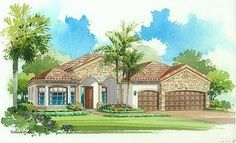 Portofino Elevation 'C' - Lennar Homes Treviso Bay Naples FL