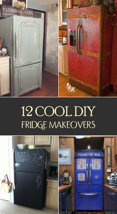 12 Cool DIY Fridge Makeovers - Is your fridge look boring? We have rounded up some amazing ideas to renovate it.