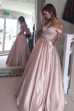 2017 homecoming dress, pink homecoming dress, off the shoulder homecoming dress, long homecoming dress prom dress
