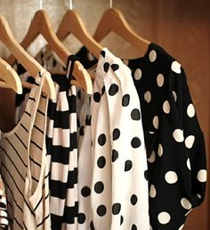 Polka dots and stripes make a lovely combo.