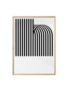 """Das Motiv """"H"""" stammt vom spanischen Designbüro Hey Studio. • Material: Decor Smooth Art 210gsm • Maße: 50 x 70cm • Druck: Glicee • wird ohne Rahmen verschickt • passende Rahmen und Posterleisten findest Du hier oder in unserem..."""