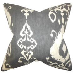 Katti Ikat Down Fill Throw Pillow Black - Overstock™ Shopping - Great Deals on PILLOW COLLECTION INC Throw Pillows