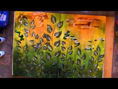 Love the background and use of clear gesso ▶ Art Journaling, Layering, Tim Holtz Ranger Products - YouTube