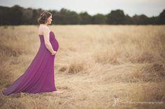 Plus Size Maternity Maxi Dress in Luscious Natural by shopkobieta