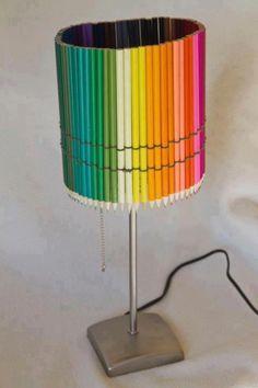 Lampa z kredek