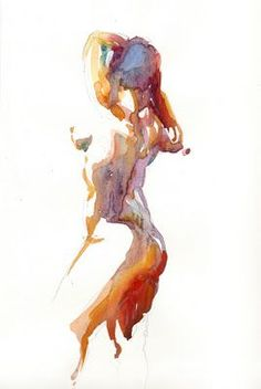 Helen Ström: Watercolor figure sketches (4)...