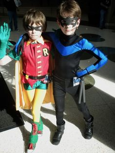 Robin & Nightwing - G wants to be nightwing for halloween....I should be able to make this, right?