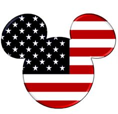 Disney Mickey Mouse Head Red White Blue Iron on Transfer Happy 4 Of July, Fourth Of July, Disney Micky Maus, Disney Clipart, Disney Fonts, Disney Printables, Disney Shirts, Mickey Mouse Head, Arte Disney